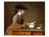 A House of Cards, 1737() Giclee Print by Jean-Baptiste Simeon Chardin