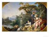 The Shepherd's Presents, (The Nest) Collection of Louis XV Giclée-tryk af Francois Boucher