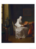 A Serinette (Bird-Organ); Lady with a Variety of Amusements Giclee Print by Jean-Baptiste Simeon Chardin