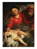 The Holy Family Giclee Print by Sir Anthony Van Dyck