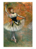 Dancer with Tambourine, Around 1882 Lámina giclée por Edgar Degas
