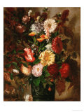 Flowers in an Earthenware Pot, 1847 Giclee Print by Eugene Delacroix