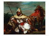 Soldier of the Moroccan Imperial Guard, 1845 Giclee Print by Eugene Delacroix
