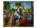 Feast of the Rose Garland, 1506 Reproduction procédé giclée par Albrecht Dürer