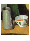 Milk Bowl and Jug, Around 1880 Giclee Print by Paul Cézanne