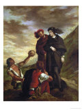 Hamlet and Horatio in the Churchyard Reproduction procédé giclée par Eugene Delacroix