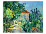 Paul Cézanne - Maison Au Toit Rouge- House with a Red Roof, 1887-90 Digitálně vytištěná reprodukce