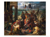 The Crusaders Take Constantinople (April 12, 1204) Giclee Print by Eugene Delacroix