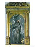 Saint Bernard of Siena Giclee Print by  El Greco