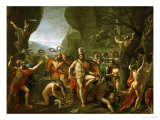 Leonidas at the Thermopylae Giclee Print by Jacques-Louis David