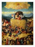 The Haywain, Central Panel (Triptych) circa 1485-90 Giclée-Druck von Hieronymus Bosch