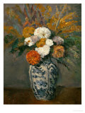 Dahlias, circa 1873 Giclee Print by Paul C&#233;zanne