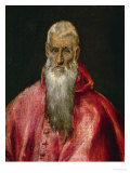 Saint Jerome as a Cardinal Giclee Print by  El Greco