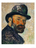 Self-Portrait with Bowler Hat (Sketch), 1885-1886 Giclee Print by Paul Cézanne
