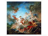 Vulcan Presenting Venus with Arms for Aeneas Giclee Print by Francois Boucher
