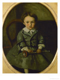 Maurice Robert as a Child Giclee Print by Jean-Baptiste-Camille Corot