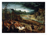 The Return of the Herd, 1565 Giclee Print by Pieter Bruegel the Elder
