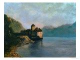 Gustave Courbet - Chillon Castle, 1874 Digitálně vytištěná reprodukce