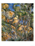 Rocks Above the Caves at Chateau Noir Giclee Print by Paul Cézanne