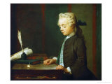 Boy with Top Giclee Print by Jean-Baptiste Simeon Chardin