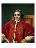 Pope Pius VII (1742-1823) Gicleetryck av Jacques-Louis David