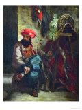 Turk with Saddle Giclee Print by Eugene Delacroix