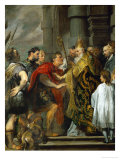 Saint Ambrose and Emperor Theodosius Reproduction proc&#233;d&#233; gicl&#233;e par Sir Anthony Van Dyck