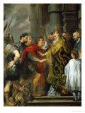 Saint Ambrose and Emperor Theodosius Giclée-Druck von Sir Anthony Van Dyck