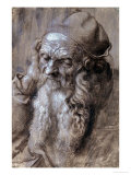 Old Man, or Study for a Saint, Brush Drawing on Brown Paper, 1521 Giclee Print by Albrecht D&#252;rer
