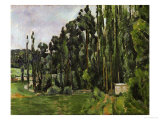 The Poplars, 1879-1882 Reproduction procédé giclée par Paul Cézanne