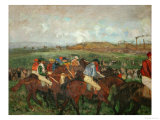 A Gentlemen&#39;s Race, Before the Start, 1862 and 1882 Giclee Print by Edgar Degas