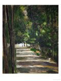The Avenue (Park of Chantilly), circa 1879 Reproduction procédé giclée par Paul Cézanne
