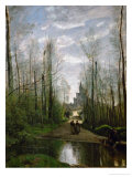 The Church of Marissel Giclee Print by Jean-Baptiste-Camille Corot