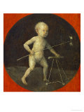 Small Child with Windmill, Tondo, Reverse Side of the Altar Wing with Christ Carrying the Cross Giclee Print by Hieronymus Bosch
