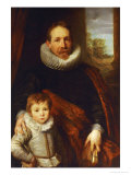 Portrait of a Father and His Son, Also Known as Guillaume Richardot Reproduction proc&#233;d&#233; gicl&#233;e par Sir Anthony Van Dyck