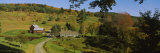 Buildings in a Field, Sleepy Hollow Farm, Woodstock, Vermont, USA Photographic Print by  Panoramic Images
