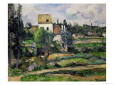 Landscape in Auvers Giclee Print by Paul Cézanne