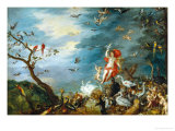Air: One of the Four Paintings Showing the Four Elements Giclée-tryk af Jan Brueghel the Elder