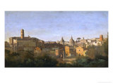The Roman Forum Seen from the Farnese Gardens Giclee Print by Jean-Baptiste-Camille Corot