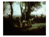The Dance of the Nymphs (Une Matinee) Giclee Print by Jean-Baptiste-Camille Corot
