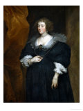 Portrait of a Woman, Probably a Member of the Noble Du Croy Family of Brussels Giclee Print by Sir Anthony Van Dyck
