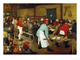 The Peasants' Wedding, 1568 Gicleetryck av Pieter Bruegel the Elder