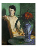 Woman with a Chinese Vase, 1872 Giclee Print by Edgar Degas