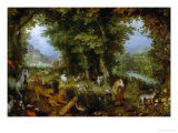 Earthly Paradise, 1607-1608 Giclee Print by Jan Brueghel the Elder
