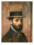 Portrait of Leon Bonnat, 1862 Giclee Print by Edgar Degas
