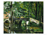 The Bridge at Maincy, Near Melun, 1879 Reproduction procédé giclée par Paul Cézanne