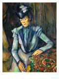 Lady in Blue, 1900-1904 Giclee Print by Paul Cézanne