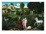 Paradise, 1530 Giclee Print by Lucas Cranach the Elder