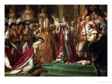 The Coronation of Emperor Napoleon I Bonaparte Lmina gicle por Jacques-Louis David