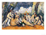 Large Bathers II, 1900-1906 Giclee Print by Paul Cézanne